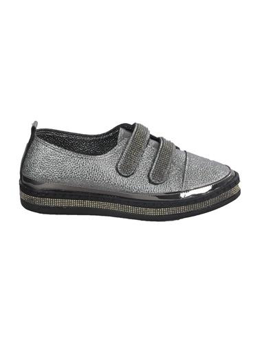 Mhd 2516 Platin Kadın Günlük Ayakkabı Gümüş
